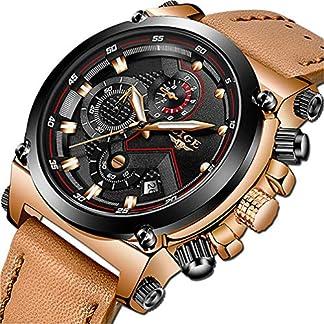 LIGE-Herren-Uhren-Mode-Golden-Uhren-Herren-Geschft-Klassisch-Schwarz-Leder-Automatisch-Datum-Uhren
