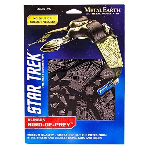 Fascinations-Metal-Earth-MMS282-502674-Star-Trek-Bird-of-Prey-Konstruktionsspielzeug-2-Metallplatinen-ab-14-Jahren