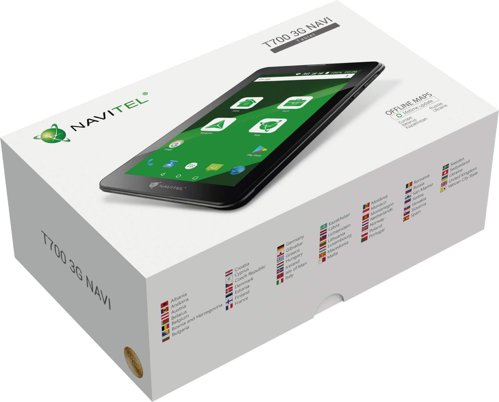 Navitel-T700-3G-Tablet-1778-cm-7-Zoll-IPS-Display-Dual-SIM-Karten-von-47-EU-Lndern-Android-70-Schwarz