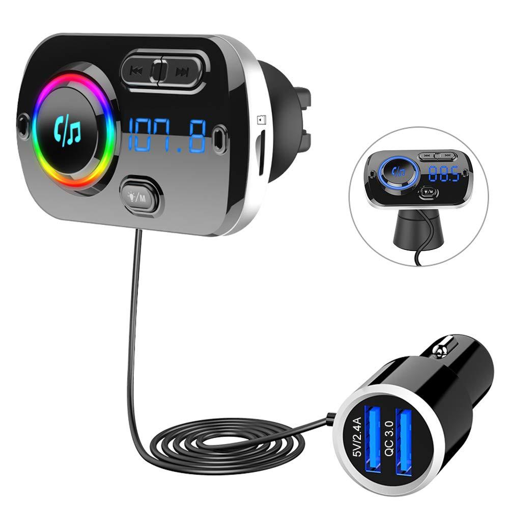 SONRU-Bluetooth-FM-Transmitter-mit-Kable