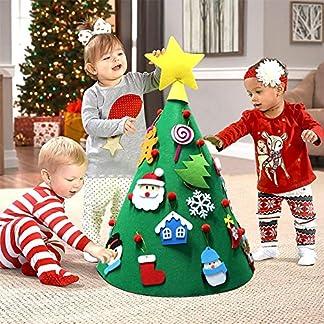 Aparty4u-3D-DIY-Filz-Weihnachtsbaum-Kleinkind-Freundlich-Weihnachtsbaum-Hngende-Ornamente-Kinder-Weihnachtsschmuck