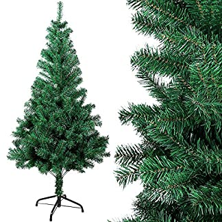 OZAVO-Weihnachtsbaum-knstlicher-Tannenbaum-120150180210-cm-Christbaum-in-grn-inkl-Metallstnder-schwer-entflammbar