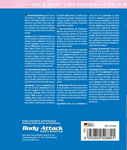 Body Attack 100% Casein Protein, Strawberry White-Chocolate, 900 g
