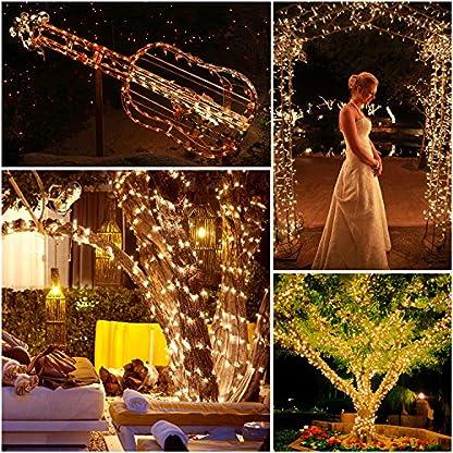 Quntis-500-LEDs-100m-Lichterkette-Weihnachtsdeko-Strombetrieb-mit-8-Modi-Memoryfunktion-fr-Auen-und-Innen-wasserdicht-Beleuchtung-fr-XmasHochzeit-Geburtstag-Party-Garten