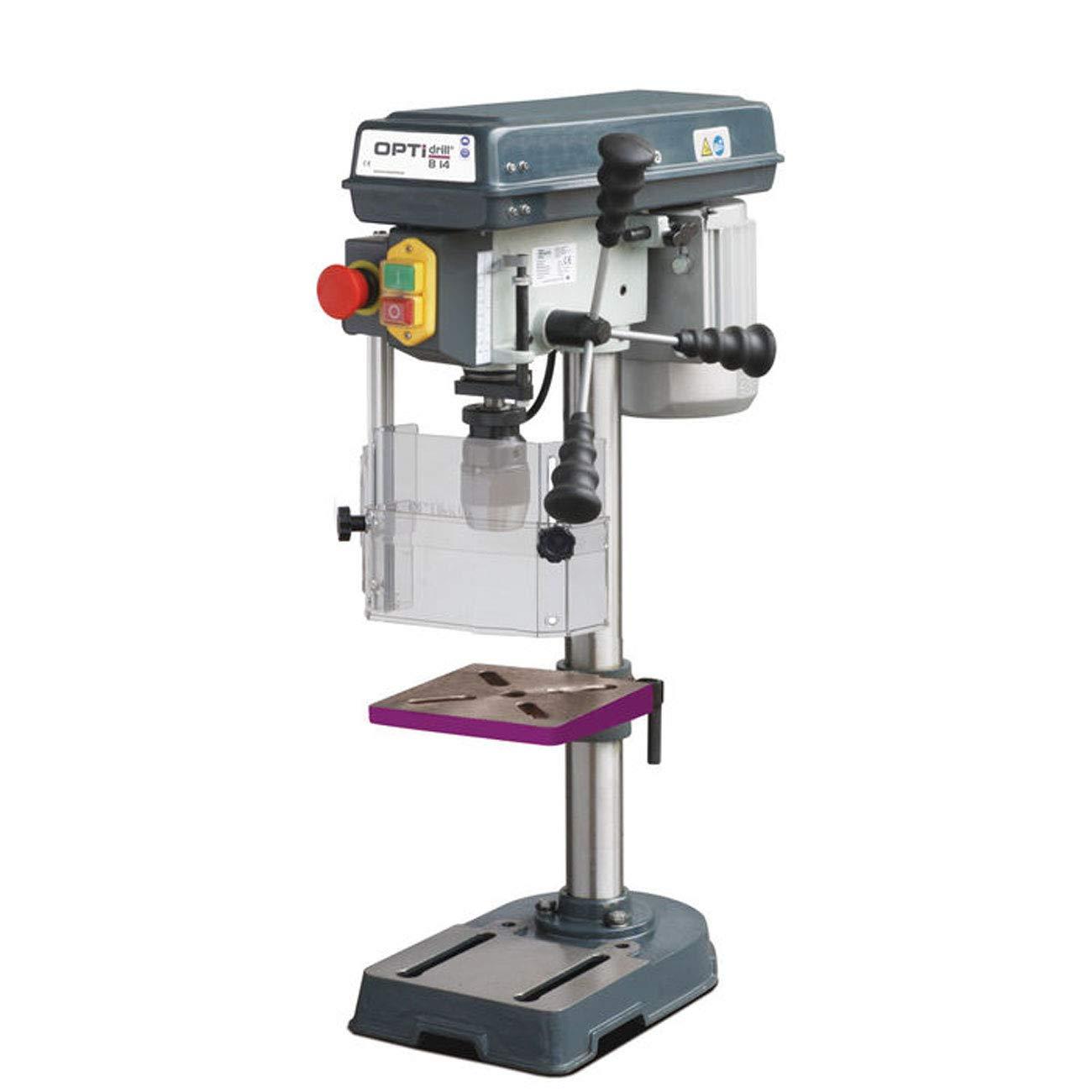 Strmer-Optimum-3008141SET-Tischbohrmaschine-OPTIdrill-B-14-Keilriemenantrieb-Bohrtisch-neigbar-und-drehbar-Schnellspannbohrfutter