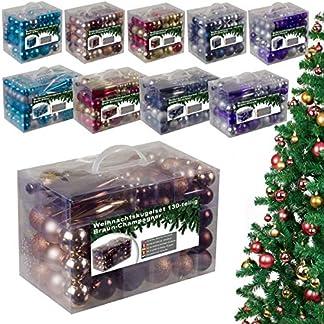 Weihnachtskugeln-Set-aus-Kunststoff-Christbaumschmuck-Baumschmuck-in-Glnzend-Glitzernd-Matt