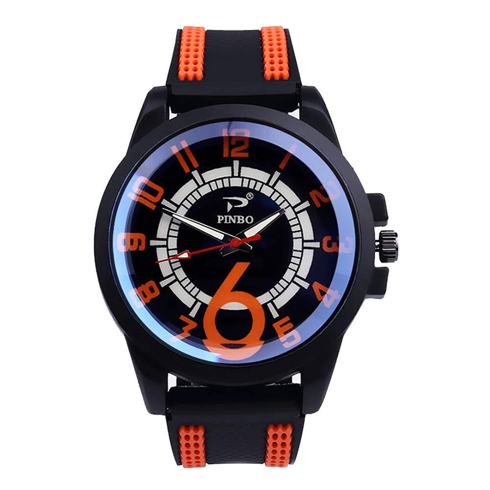 Godagoda-Herren-Armbanduhr-Analog-Quarzuhr-Silikon-Armband-Sportuhr-fr-Geschenk-Vatertag