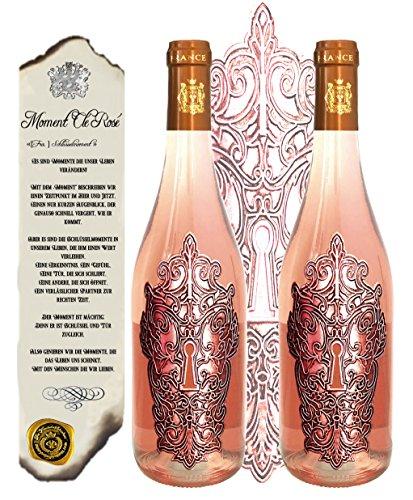 100-Vintage-Rosewein-2er-Weingeschenk-Set-Moment-Cl-Ros-limitiert-auf-5000-Flaschen-Bordeaux-Frankreich-Jany-Whispering-fr-Frauen-Luxus-Weinkenner