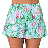 KingProst-shorts-Kurze-Hosen-Damen-Sommer-Strand-Shorts-Badeshorts-Freizeithose-Kurz-Damenhosen-mit-Gummizug-Elegant-Mid-Waist-Ruffles-Hotpants