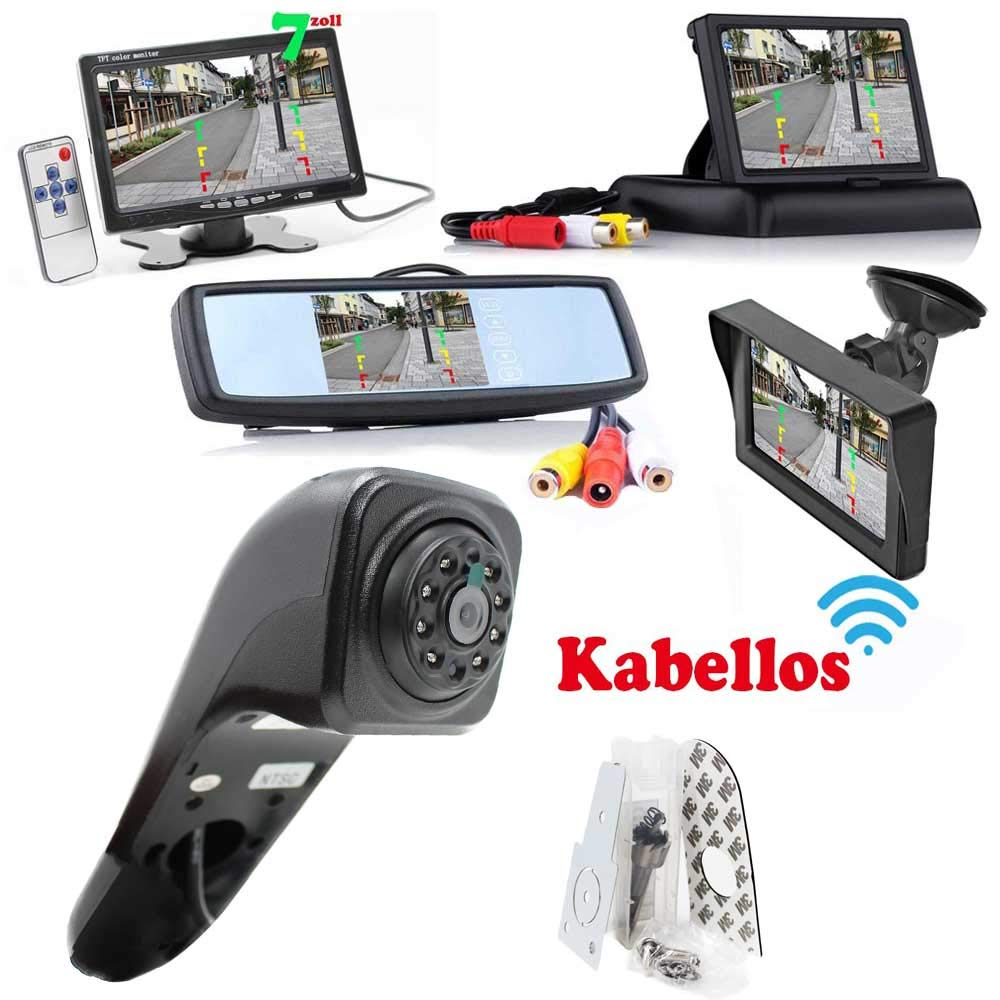RFK-169-Kabellose-Funk-Rckfahrkamera-Kompatibilitts-VW-Crafter-2017-Alle-Transporter-Hinten-um-Ihr-Transporter-Wohnwagen-Wohnmobile-Heck-zum-nachrusten-inkl-Monitor