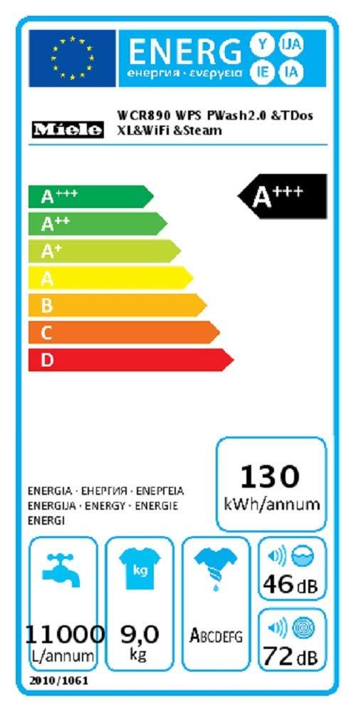 Miele-WCR-890-WPS-WaschmaschineEnergieklasse-A130-kWhJahrmit-automatischer-DosierungWaschautomat-mit-9-kg-Schontrommel-mit-Dampffunktion-zum-Vorbgelnper-WLAN-mit-Smartphone-steuerbar