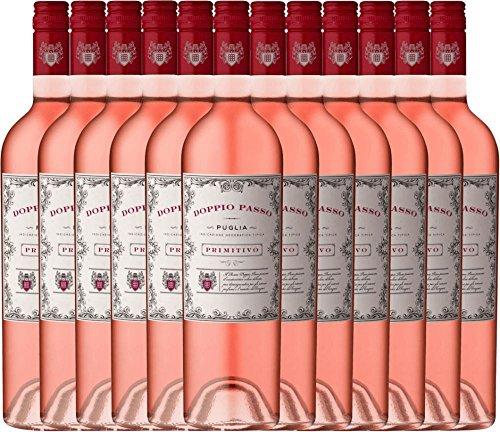 12er-Paket-Doppio-Passo-Rosato-IGT-Puglia-2017-CVCB-halbtrockener-Roswein-italienischer-Sommerwein-aus-Apulien-12-x-075-Liter