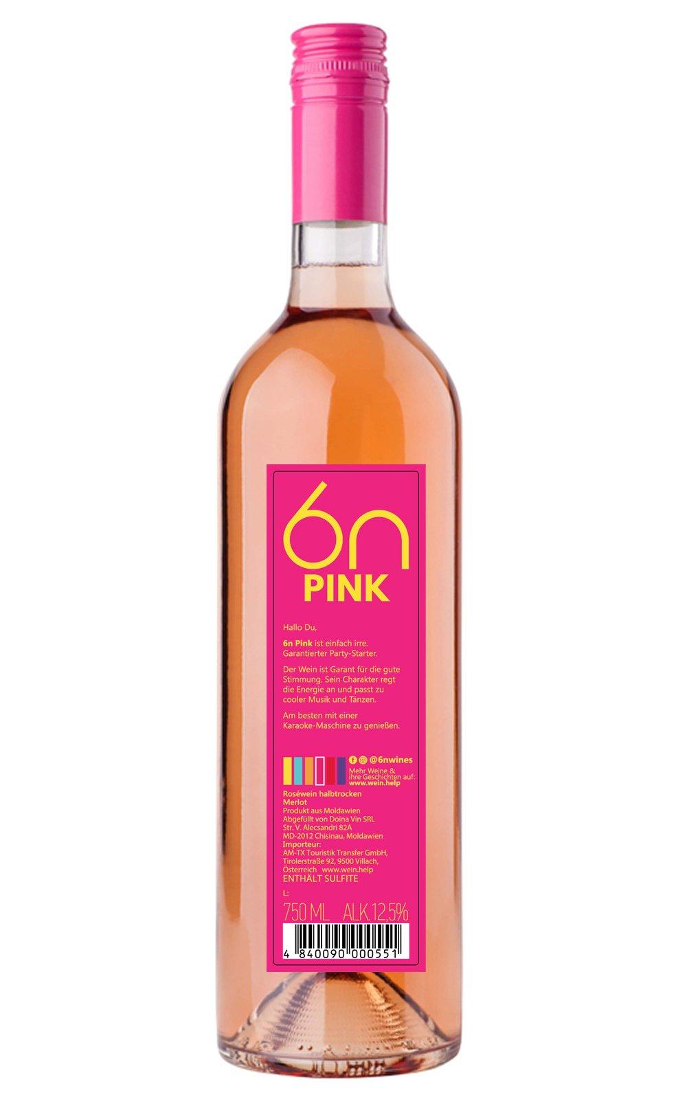 6n-Party-pink-Rosewein-halbtrocken