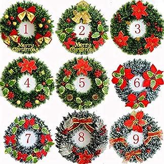 Weihnachten-Knstlicher-Kranz-Weihnachtskranz-Deko-Knstliche-Kranz-40CM-Weihnachts-Trkranz-Wandkranz-Adventskranz-Weihnachtsdeko-Home-Fenster-Einkaufszentrum-Hotel-Dekoration