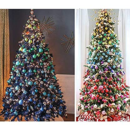 Wohlstand-72-teilig-Weihnachtskugel-Set-Weihnachtskugeln-Baumschmuck-Weihnachten-Deko-Anhnger-modisch-Glnzend-Bruchsiche-Weihnachtskugeln-Winter-Wnsche-Weihnachten