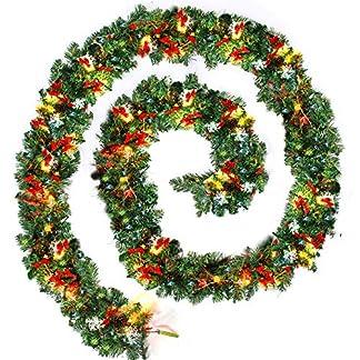 ZhongYe-Weihnachtsgirlande-Tannengirlande-mit-Beleuchtung-Knstlich-Dekoriert-Weihnachten-Deko-Girlande-fr-Kamin-Treppe-Wand-Tr-27M