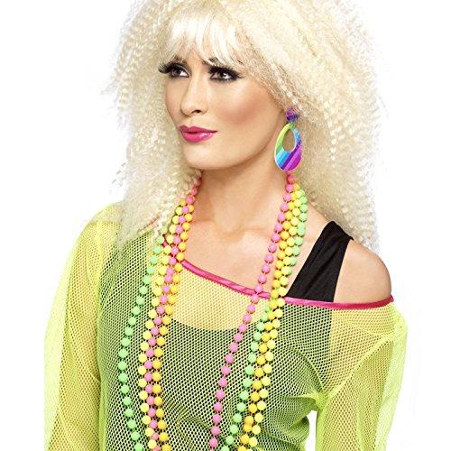 Smiffys Damen Neon Tränen Ohrringe, One Size, Bunt, 21175