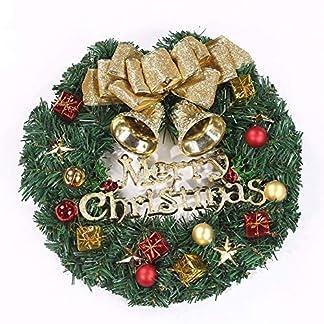 ZXPAG-Tukranz-Weihnachten-AuBen-Weihnachten-Kranz-Deko-Trhngering-Rattan-PVC-Fr-Tr-Outdoor-Weihnachts-Parties-Feste-Tren-Feste-Deko