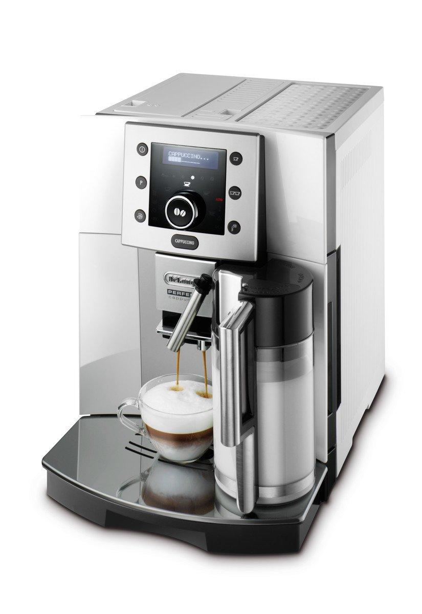 DeLonghi-Perfecta-ESAM-5500SM-Kaffeevollautomat-1350-W-18-l-Digitaldisplay-integriertes-Milchsystem-Kegelmahlwerk-13-Stufen-Herausnehmbare-Brhgruppe-2-Tassen-Funktion-silber