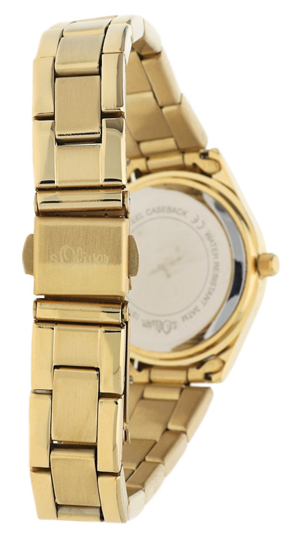 sOliver-Damen-Armbanduhr-Analog-Quarz-IP-Gold-SO-15113-MQR