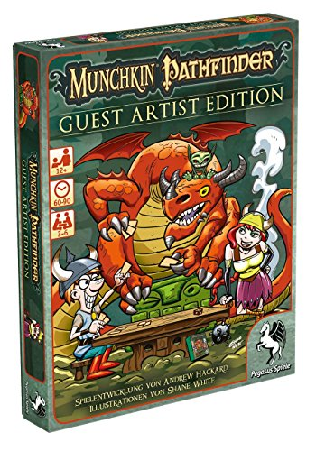 Pegasus-Spiele-17243G-Munchkin-Pathfinder-Guest-Artist-Edition-Shane-White-Version