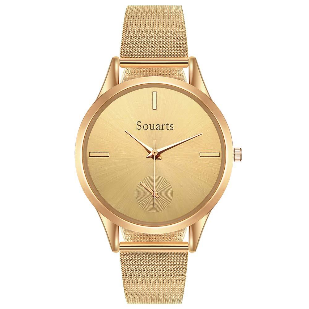 Heflashor-Unisex-Herren-Damen-Edelstahl-Mesh-Armband-Uhren-Quarz-Elegant-Ultra-flach-Slim-Uhr-mit-Lithiumbatterie