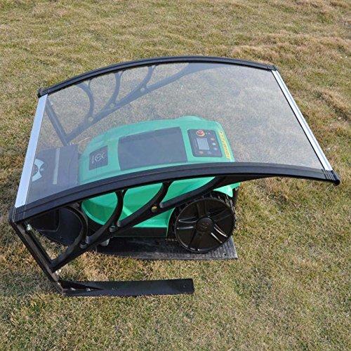 MCTECH-Carport-fr-Mhroboter-Garage-fr-Rasenmher-Roboter-Polycarbonat-Regenschutz-Sonnenschutz-Pultvordach-Dach-Haustrvordach