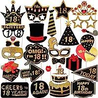 Amosfun-29st-18-Geburtstag-Photo-Booth-Props-Glitter-Geburtstag-RequisitenParty-Zubehr-Fr-Geburtstag-Party-Dekoration-Favors-Supplies