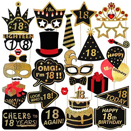 Amosfun-29st-18-Geburtstag-Photo-Booth-Props-Glitter-Geburtstag-RequisitenParty-Zubehr-Fr-Geburtstag-Party-Dekoration-Favors-Supplies