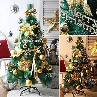 CYWYQ-Einfaches-Einrichten-Weihnachtsbaum-Mit-ERN-Pre-lit-Schimmernde-Frost-Dekor-Verziert-Lwl-Baum-Mit-Metallstnder-Fr-Indoor-Outcoor