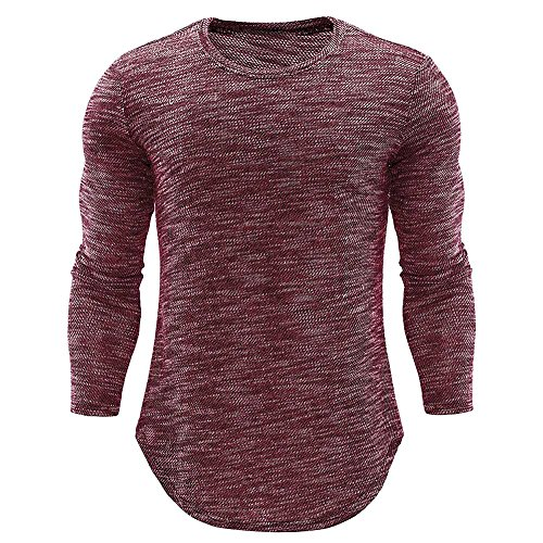 Basic-T-Shirts-fr-MnnerLoveso–Herren-Slim-Fit-Sport-Fitness-Training-Crewneck-Tglichen-Modern-Sweatshirt-Langarmshirt-Pullover-Warm
