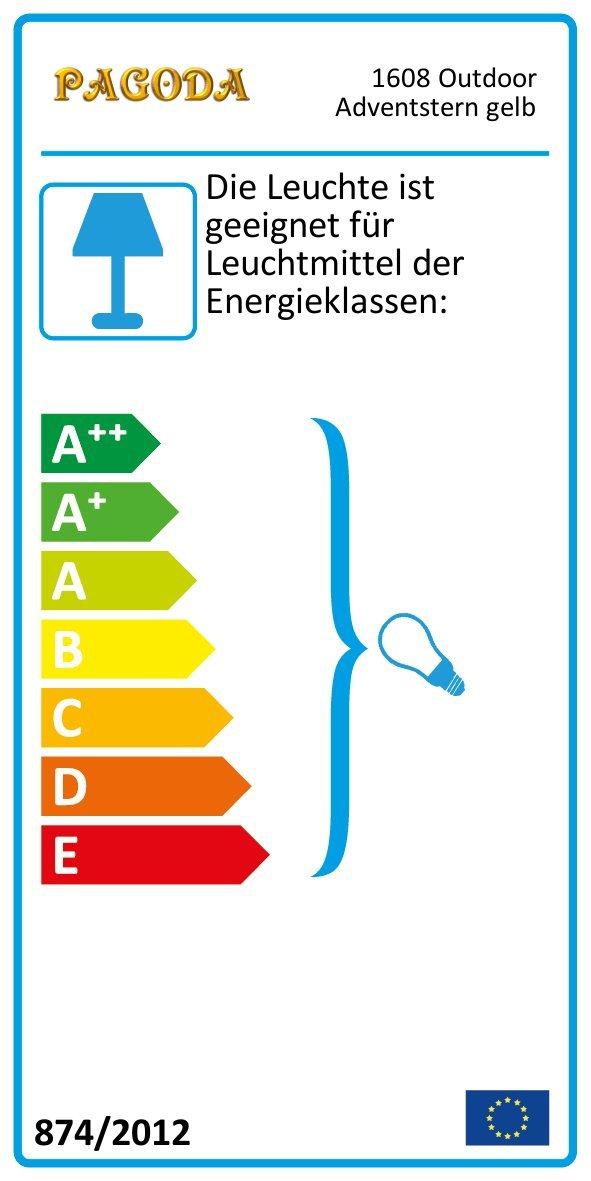 Auenstern-gelb-beleuchteter-Stern-55-60-cm-Adventsstern-Weihnachtsstern-Leuchtstern-Faltstern-wetterfest