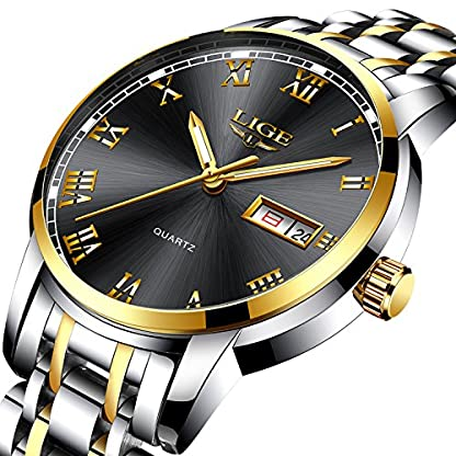Schlichtes-Design-Herren-Uhren-Herren-Luxus-Wasserdicht-30-M-Armbanduhr-Datum-Kalender-Edelstahl-Band-Analog-Quarz-Business-Casual-Herren-Armbanduhr