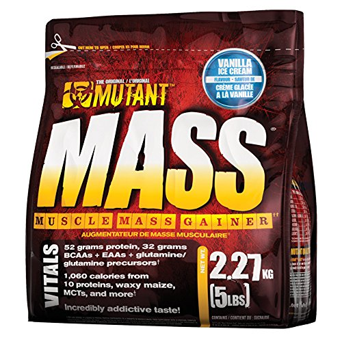 Mutant Mass – Vanilla – 2200g, 1er Pack (1 x 2.2 kg)