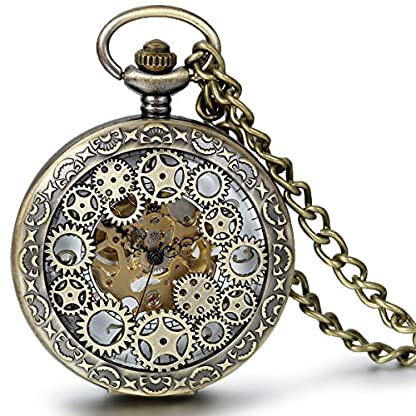 JewelryWe-Retro-Zahnrad-Ritzel-Hohe-Openwork-Handaufzug-Mechanische-Taschenuhr-Skelett-Uhr-Pullover-Halskette-Kette
