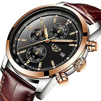 Herren-Uhren-Wasserdicht-Sport-Chronograph-Datum-Analog-Quarzuhr-Mnner-Luxusmarke-LIGE-Mode-Geschft-Braun-Leder-Herren-Armbanduhr
