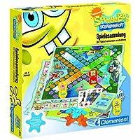 Clementoni-697403-SpongeBob-Spielesammlung-80-Spielvarianten