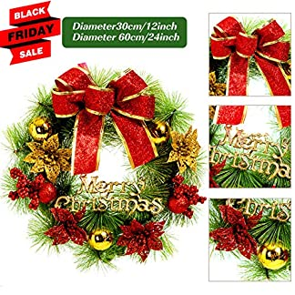 Besteamer-Weihnachtsdekoration-Kranz-Filz-Applikation-Wandbehang-Kranz-Kit-fr-Weihnachten-Party-Zuhause-Tr-Wand-Dekoration