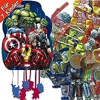 Pinata-Set-Avengers-mit-riesengroer-Piata-100-teiliges-Sigkeiten-Fllung-No1-von-Carpeta-Spanische-Zugpinata-fr-bis-zu-7-Kinder-Tolles-Superhelden-Spiel-fr-Kindergeburtstag