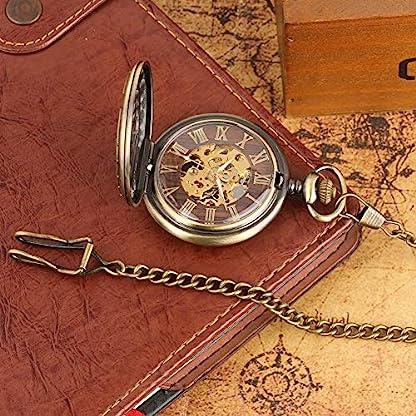 Card-Captor-Sakura-Taschenuhr-kreatives-Holz-Zifferblatt-Skelett-mechanische-Taschenuhren-mit-Kette-Jungen-und-Mdchen