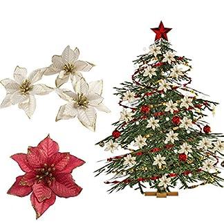 20-stcke-Rot-Glitter-Weihnachtsstern-Weihnachten-Baum-Ornamente-Knstliche-Weihnachten-Baum-Dekorationen-Ereignis-Partei-Liefert