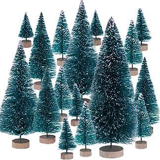 Leinuosen-43-Stcke-Knstliche-Mini-Weihnachtsbume-Tischplatte-Bume-Schnee-Ornamente-fr-Weihnachtsfeier-Party-Haus-Dekoration-6-Gren