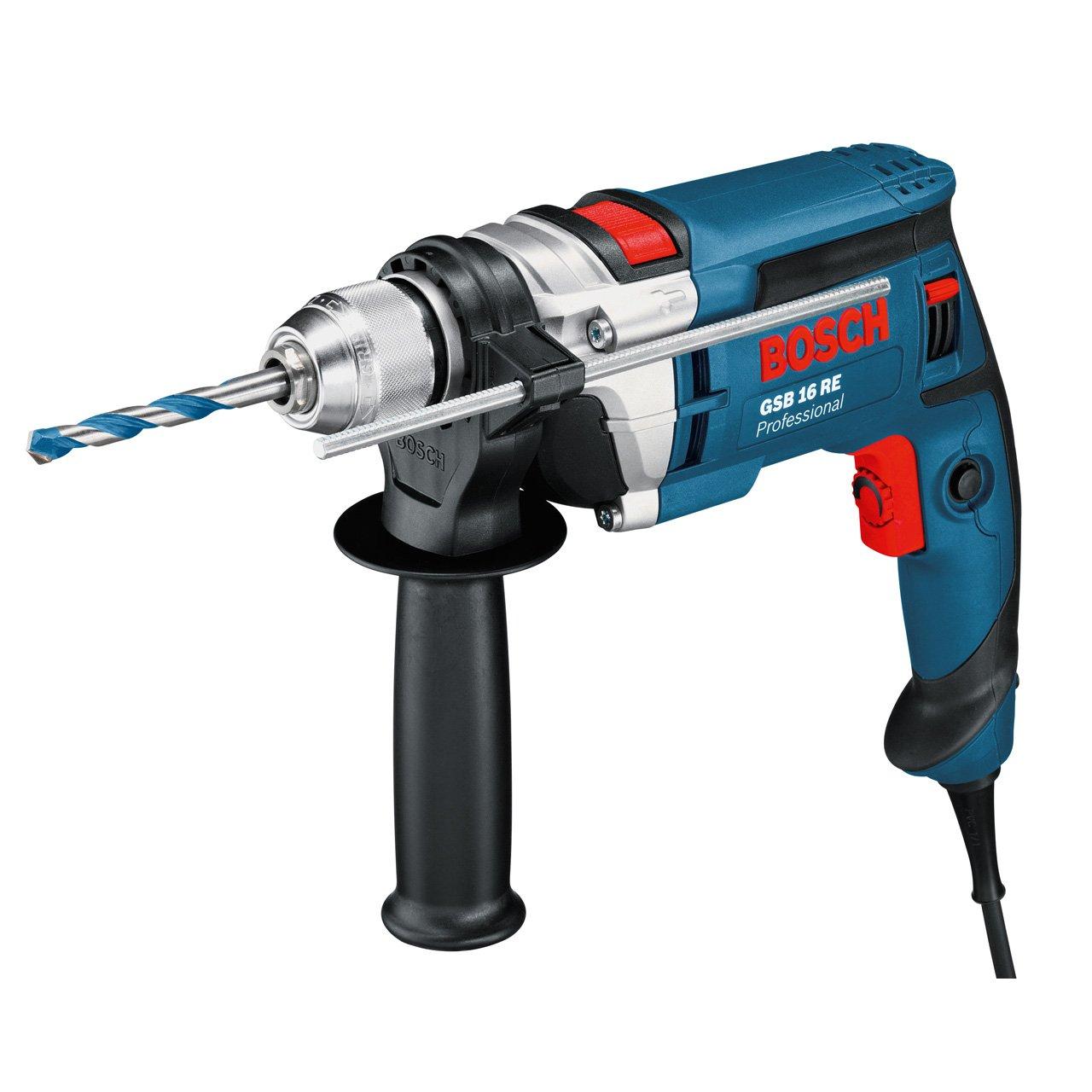 Bosch-Professional-GSB-16-RE-Schlagbohrmaschine-Schnellspannbohrfutter-13-mm-Tiefenanschlag-210-mm-Zusatzhandgriff-Koffer-750-W