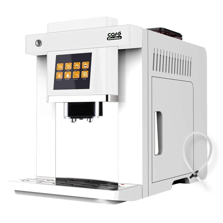 Modell-2019-Kaffeevollautomat-EASY-TOUCH-white-Caf-Bonitas-Touchscreen-Dualboiler-19-Bar-Kaffeeautomat-Kaffeemaschine-Kaffee-Espresso-Latte