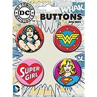 DC-Universe-Wonder-Woman-Super-Girl-4-Stck-Button-Set
