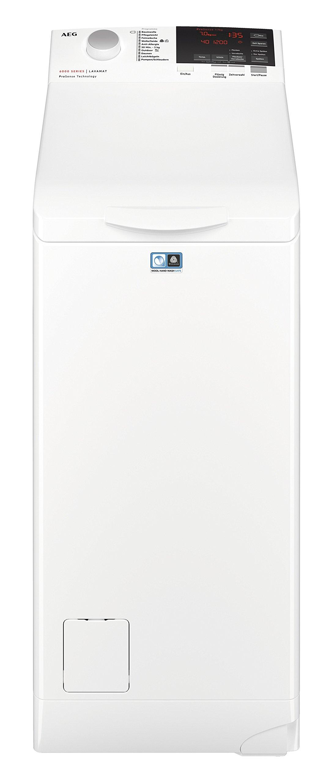 AEG-L6TB61370-Waschmaschine-Toplader-70-kg-Mengenautomatik-Nachlegefunktion-Kindersicherung-Allergikerfreundlich-Wasserstopp-1300-Umin