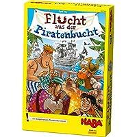 Haba-302789-Flucht-aus-der-Piratenbucht-Spannendes-Taktikspiel-fr-die-ganze-Familie-zum-Denken-Wrfeln-und-Zusammenarbeiten-Kooperatives-Spiel-ab-5-Jahren