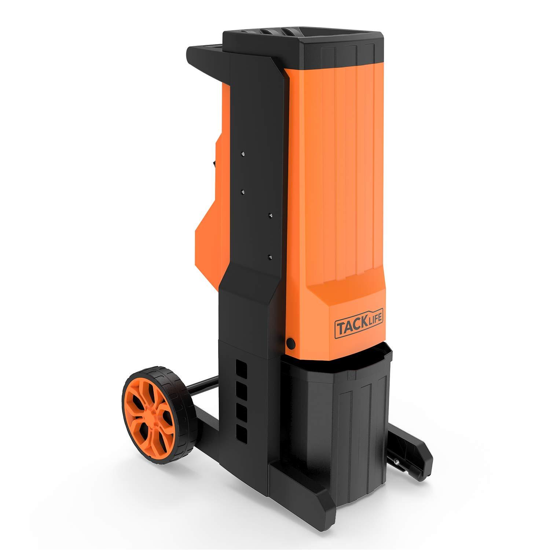 Elektrischer-Messerhcksler-2500W-Walzenhcksler-40mm-Aststrke-Tragbares-Gummirad-Auswechselbare-zweischneidige-Manganstahlklingen-20L-robuste-Auffangbox-PWS02A