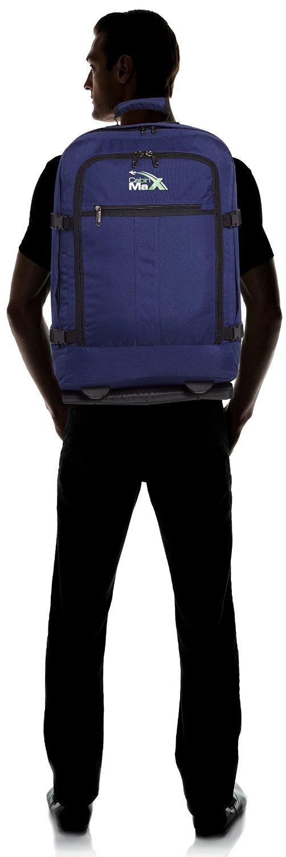 Cabin-Max-Malmo-Premium-Rollkoffer-mit-44-Liter-Volumen-55-x-40-x-20-cm-Organisationsfach-wasserfester-Rucksack-erweiterbar-bis-55-Liter-Trolley-Handgepck-Koffer-mit-2-Rollen