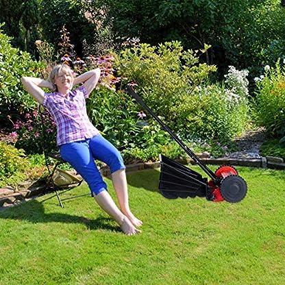 Relaxdays-Handrasenmher-mit-Fangkorb-leise-Schnitthhenverstellung-295-cm-Schnittbreite-Spindelmher-schwarzrot